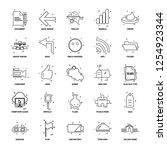 25 business concept mix line... | Shutterstock .eps vector #1254923344