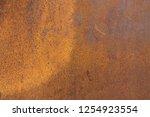 rusty brown metal surface... | Shutterstock . vector #1254923554