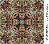 seamless pattern handkerchief...   Shutterstock . vector #1254923617