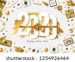 2020 happy new year background. ... | Shutterstock .eps vector #1254926464
