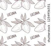 lucuma. fruit. seamless ...   Shutterstock .eps vector #1254956551