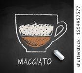 vector sketch of macchiato... | Shutterstock .eps vector #1254957577