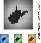 map of west virginia   Shutterstock .eps vector #1254972364