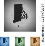 map of rhode island | Shutterstock .eps vector #1254972394