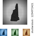 map of new hampshire | Shutterstock .eps vector #1254972421