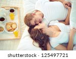 Stock photo young serene couple sleeping together 125497721