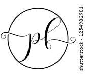 pf icon logo | Shutterstock .eps vector #1254982981