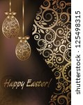 happy easter greeting banner ... | Shutterstock .eps vector #125498315