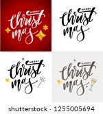 merry christmas calligraphic... | Shutterstock .eps vector #1255005694