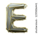 capital latin letter e in low... | Shutterstock . vector #1255006441