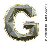 capital latin letter g in low... | Shutterstock . vector #1255006447