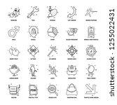 25 business concept mix line... | Shutterstock .eps vector #1255022431