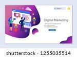 creative website template of... | Shutterstock .eps vector #1255035514