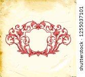 retro baroque decorations... | Shutterstock .eps vector #1255037101