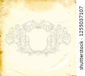 retro baroque decorations... | Shutterstock .eps vector #1255037107