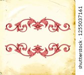 retro baroque decorations... | Shutterstock .eps vector #1255037161