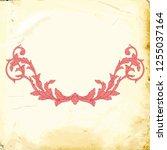 retro baroque decorations... | Shutterstock .eps vector #1255037164