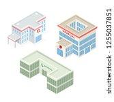 set of hospital building... | Shutterstock .eps vector #1255037851