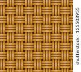 seamless woven wicker rail... | Shutterstock .eps vector #125503955
