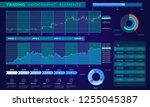 trading infographic elements | Shutterstock .eps vector #1255045387