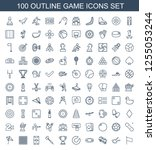 100 game icons. trendy game... | Shutterstock .eps vector #1255053244