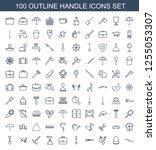 handle icons. trendy 100 handle ... | Shutterstock .eps vector #1255053307