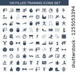100 training icons. trendy... | Shutterstock .eps vector #1255053394