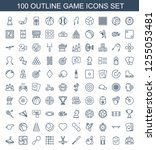game icons. trendy 100 game... | Shutterstock .eps vector #1255053481