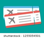 flight ticket icon | Shutterstock .eps vector #1255054501