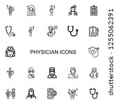 editable 22 physician icons for ...   Shutterstock .eps vector #1255062391