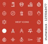 editable 22 west icons for web... | Shutterstock .eps vector #1255063477