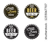 beer emblems collection. color... | Shutterstock . vector #1255067707