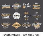 merry christmas sale overlays....   Shutterstock .eps vector #1255067731