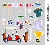 set of patch badges golf... | Shutterstock .eps vector #1255083877