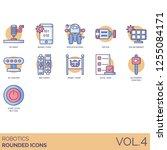 robotics icons including 3d... | Shutterstock .eps vector #1255084171