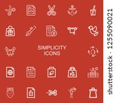 editable 22 simplicity icons... | Shutterstock .eps vector #1255090021