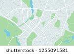 abstract flat map of city. plan ... | Shutterstock . vector #1255091581