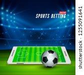 soccer bet online. sports... | Shutterstock . vector #1255091641
