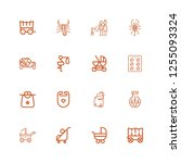 editable 16 birth icons for web ...   Shutterstock .eps vector #1255093324