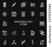 editable 22 microbiology icons... | Shutterstock .eps vector #1255093384