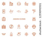 Editable 22 Asian Icons For We...