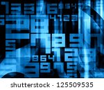 blue abstract random digits numbers background - stock photo
