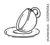 cup and saucer for tea icon.... | Shutterstock .eps vector #1255096561