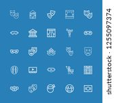 editable 25 drama icons for web ... | Shutterstock .eps vector #1255097374