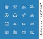editable 16 rail icons for web... | Shutterstock .eps vector #1255097497