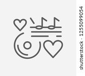 love song icon line symbol....
