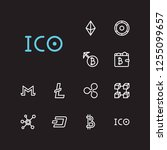 cryptocurrency icons set....