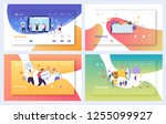 digital advertising marketing... | Shutterstock .eps vector #1255099927