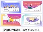 teamwork business work success... | Shutterstock .eps vector #1255107211