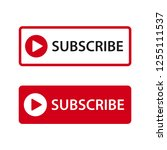 subscribe flat icons. flat... | Shutterstock .eps vector #1255111537